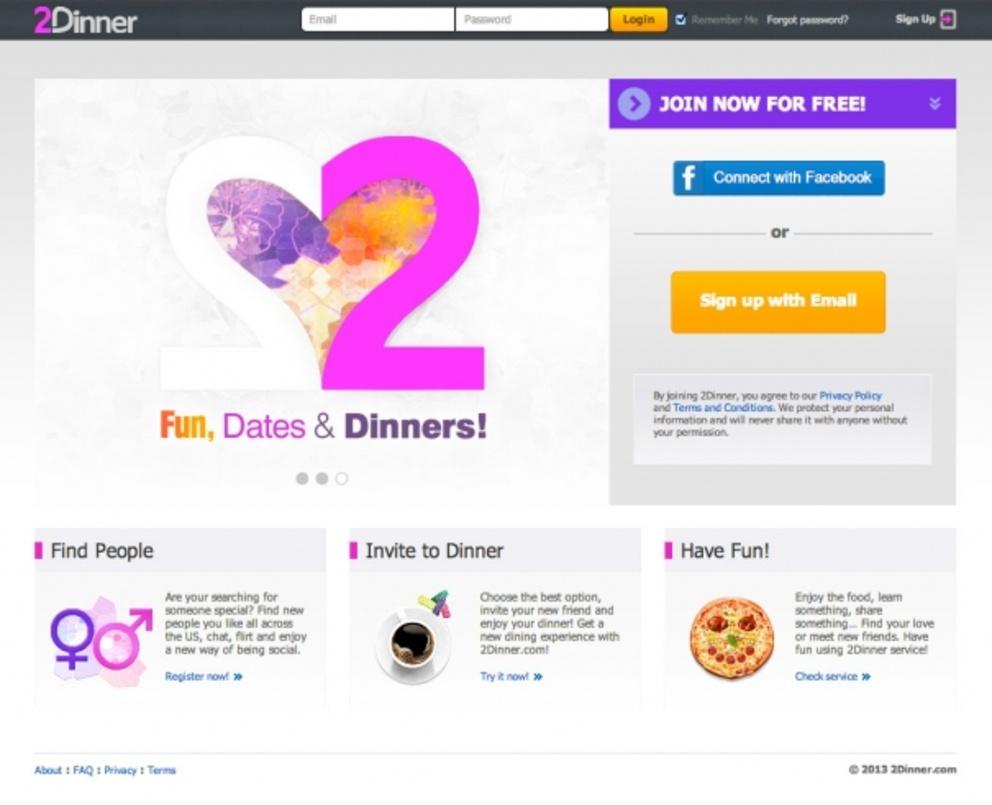 2dinner.com - Социальная сеть знакомств / Проект компании AXIOMA