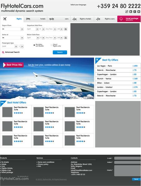 FlyHotelCars — бронирование перелетов, отелей, трансфера по всему миру