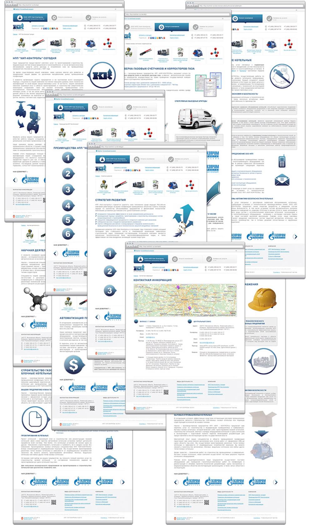 Сайт компании кип-контроль / Проект компании A3-WEB