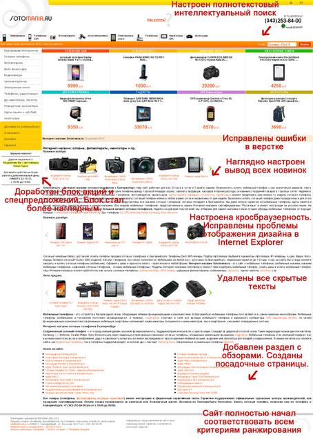 Модернизация и продвижение Интернет-магазина Sotomania.ru