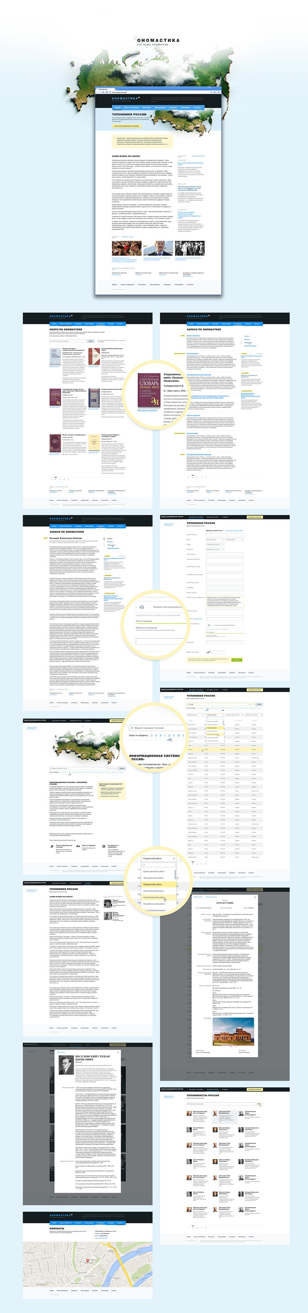 Ономастика — научный сайт про имена собственные / Проект компании Creator