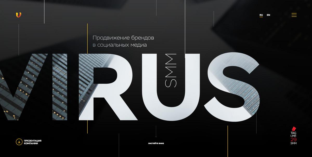 Virus SMM / Проект компании Parapix